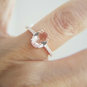 Jewelry - 1.5ct Oval Rose Gold Engagement Ring size 7